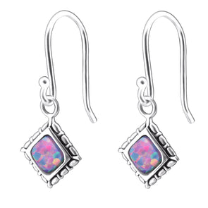 Astra Earrings (Pink Rainbow) - Sterling Silver