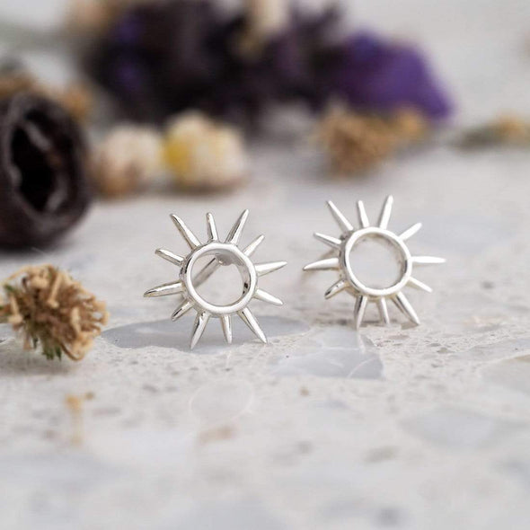 Open Sunshine Studs - Sterling Silver