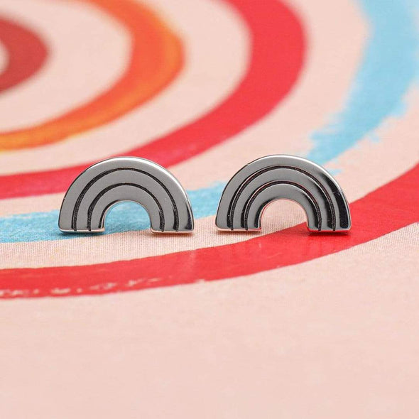 Chasing Rainbows Studs - Sterling Silver