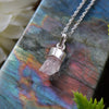 Rose Quartz Cluster Necklace - Piece #1 (Sterling Silver Pendant)