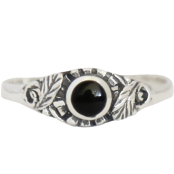 Black Onyx 'Raven' Ring - Sterling Silver