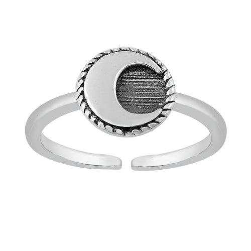 Luna Adjustable Midi Ring - Sterling Silver