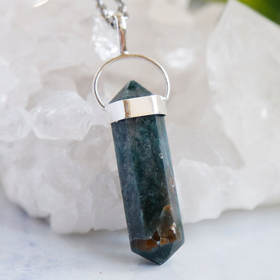 Blue Apatite Necklace - Piece #21 (Sterling Silver Pendant)