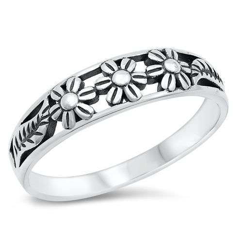 Flower of Three Ring - Sterling Silver