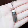Tourmalinated Quartz Necklace - Piece #10 (Sterling Silver Pendant)