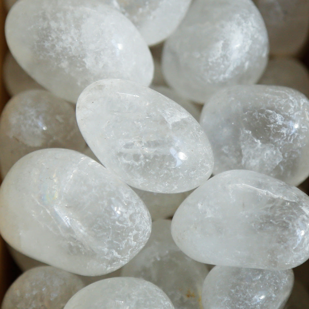 Clear Quartz Tumble Tumbled Stones | Crystal Shop Australia, Afterpay and zipPay available