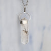 Tourmalinated Quartz Necklace - Piece #12 (Sterling Silver Pendant)