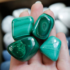 Malachite Tumble Tumbled Stones | Crystal Shop Australia, Afterpay and zipPay available