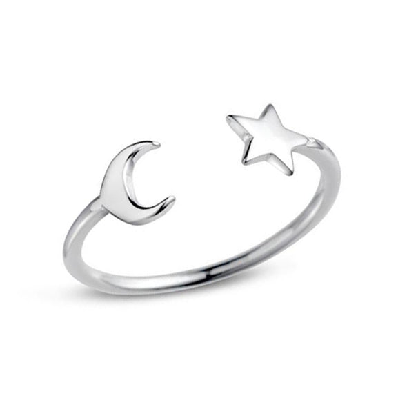 Take Me to the Moon Ring - Sterling Silver