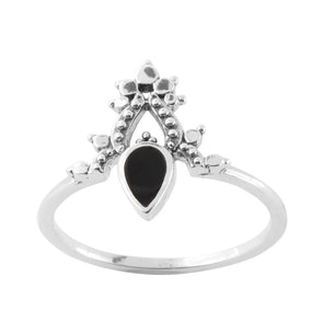 Black Onyx 'Desire' Ring - Sterling Silver