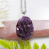 Amethyst Cluster Necklace - Piece #8 (Sterling Silver Pendant)