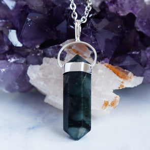 Emerald Necklace - Piece #17 (Sterling Silver Pendant)
