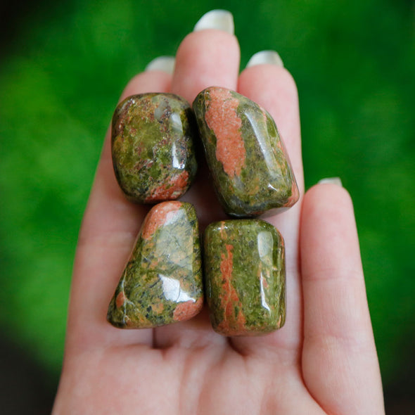 Unakite Tumble Tumbled Stones | Crystal Shop Australia, Afterpay and zipPay available