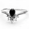 Black Onyx 'Sublime' Ring - Sterling Silver