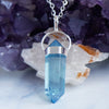 Aqua Aura Quartz Necklace - Piece #26