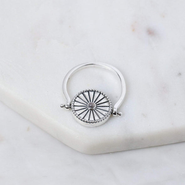 Hidden Zodiac Ring - Sterling Silver