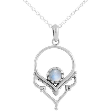 (Seconds) Dainty Affirmation Moonstone Necklace - Rainbow Moonstone