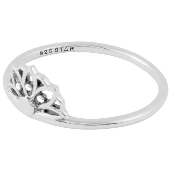 Sunflower Stacker Ring - Sterling Silver (Size 5)