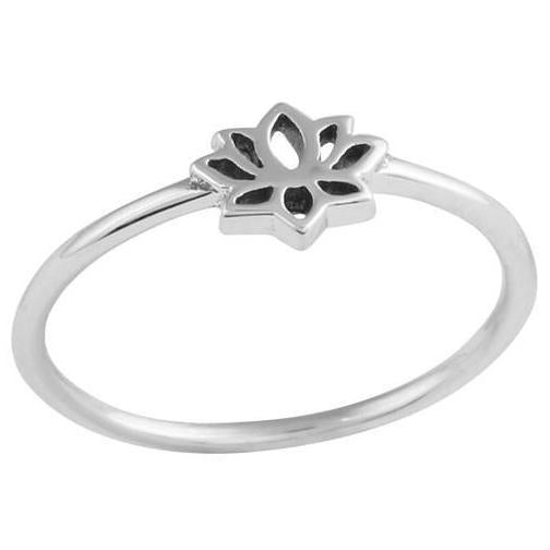 Baby Lotus Ring - Sterling Silver