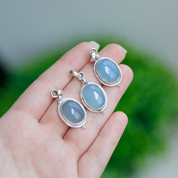 * Chalcedony Necklace (Sterling Silver Pendant)