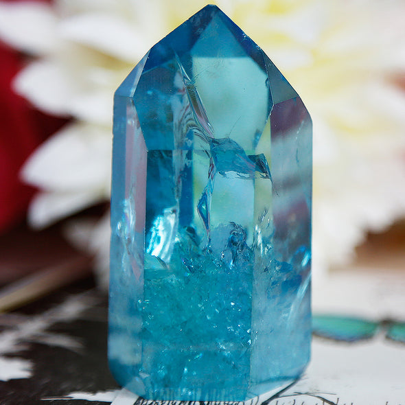 Aqua Aura Quartz - Piece #15