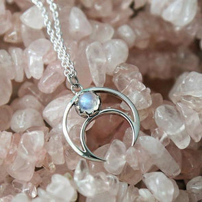 Lunar Eclipse Necklace - Sterling Silver