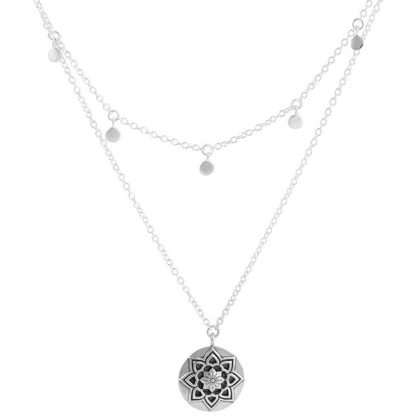 Morning Flower Necklace - Sterling Silver