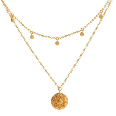 Morning Flower Necklace - 18K Gold Vermeil