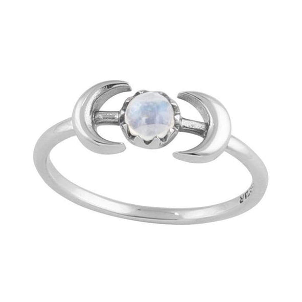 'Encapsulating Moons' Ring - Sterling Silver