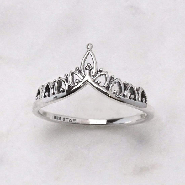 Solaris Crown Ring - Sterling Silver