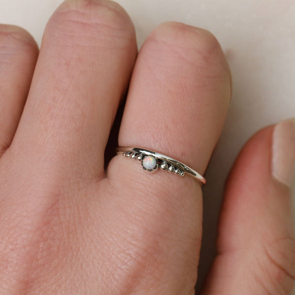 Delicate Crown Ring - Sterling Silver
