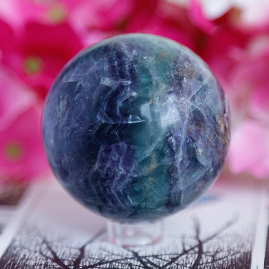 Rainbow Fluorite Sphere - Piece #35