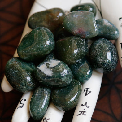 Moss Agate Tumbles (Smaller)