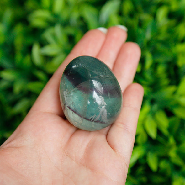 Small Rainbow Fluorite Egg - Piece #3
