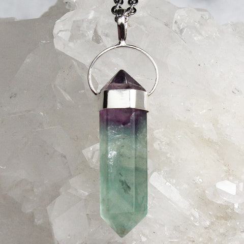 Rainbow Fluorite Necklace - Piece #10