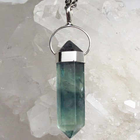 Rainbow Fluorite Necklace - Piece #16