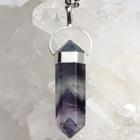 Rainbow Fluorite Necklace - Piece #17