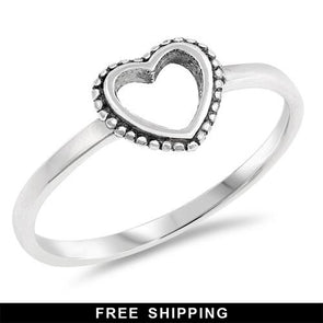 Heart Ring * - Sterling Silver