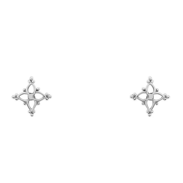 Dainty Moroccan Star Studs - Sterling Silver