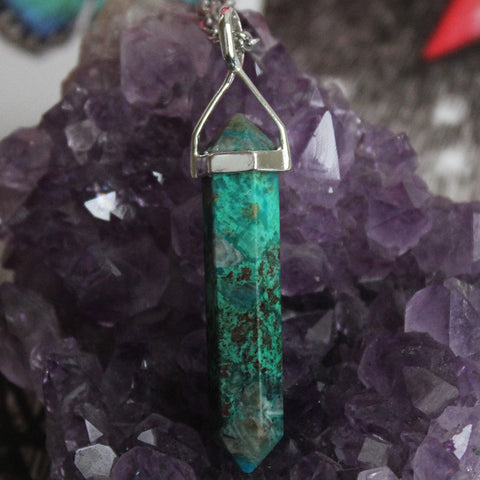 Chrysocolla Necklace - Piece #10