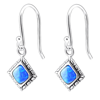 Astra Earrings (Blue) - Sterling Silver