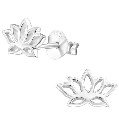 Lotus Earrings - Sterling Silver