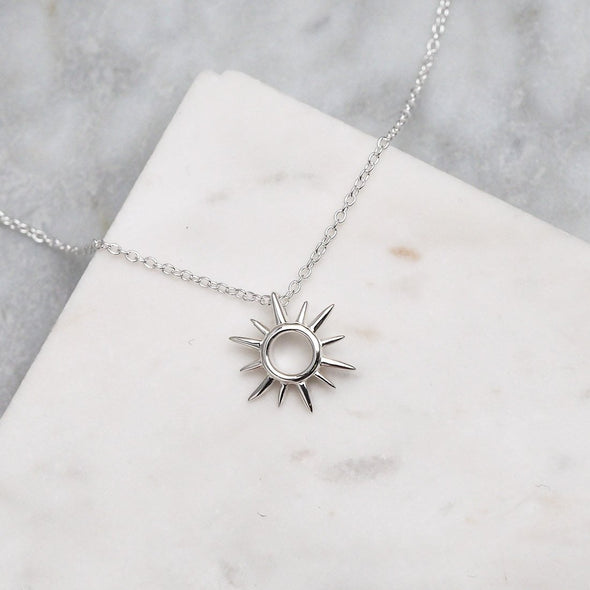 Open Sunshine Necklace - Sterling Silver