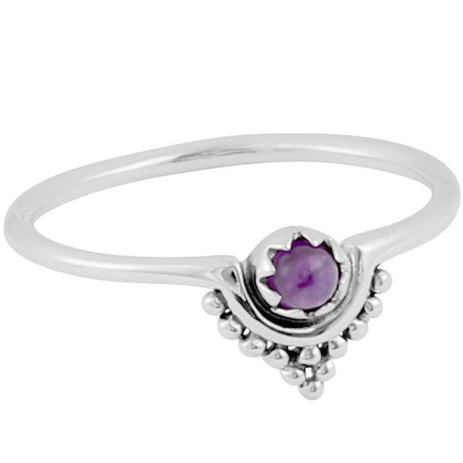 Seeking Sanctuary Ring (Amethyst) - Sterling Silver
