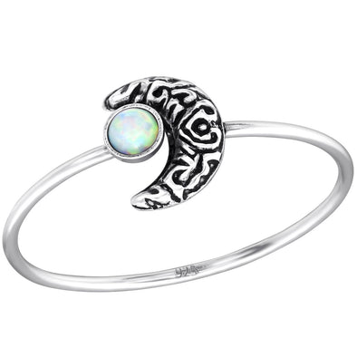 Moon Ring - Sterling Silver *