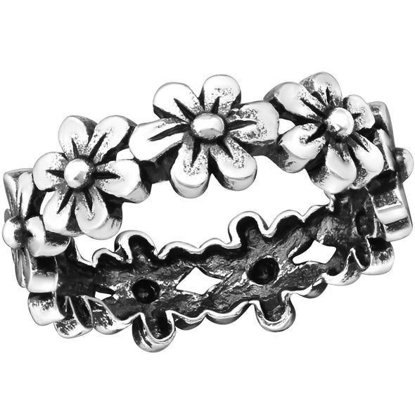 Flower Ring - Sterling Silver (Size 6 3/4)