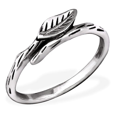 Leaf Ring - Sterling Silver