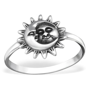 Sun & Moon Ring - Sterling Silver
