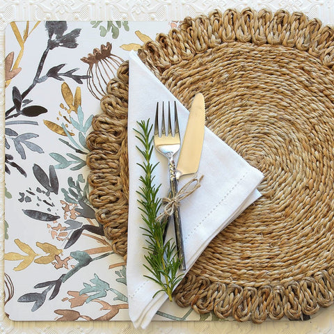 Table Linen, placemats, coasters, table runners, napkins online at maisie & clare