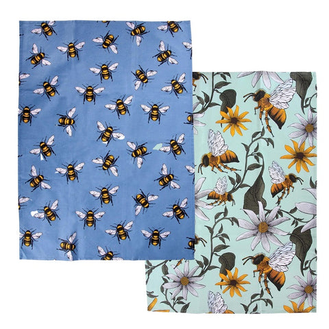 Honey Bee Tea Towel - 2 pack
